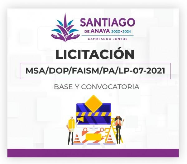 Licitación 07-2021